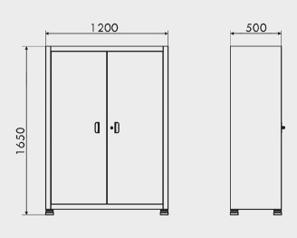 medidas armario com prateleiras de aço reguláveis ARM 001