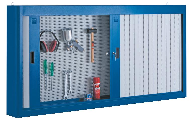 armário de aço com 2 portas e persiana em pvc 216