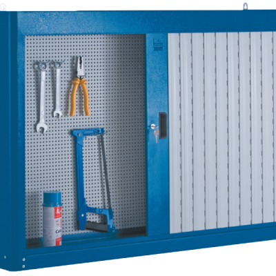 armário de aço com 2 portas e persiana em pvc 216A