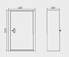 medidas Armário para guardar ferramentas com 3 prateleiras e porta de aço ARM-023