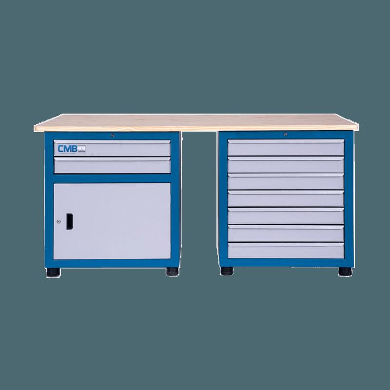 bancada de trabalho modular 2 gaveteiros tampo 1800 800px compressor