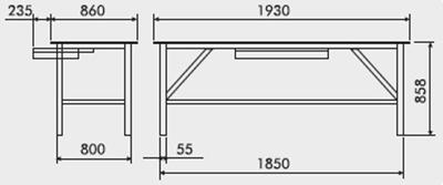 bancada de trabalho modular prateleira 1 gaveta tampo aço 2,65mm medidas 218ATC 400px compressor