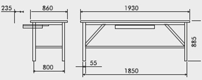bancada de trabalho modular prateleira gaveta tampo pinus 40mm medidas 218A 400px compressor
