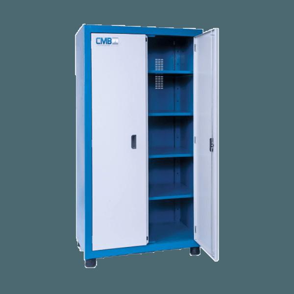 armário de aço com 2 portas 4 prateleiras ARM 017