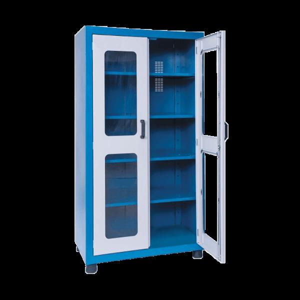 armário de aço com 2 portas 4 prateleiras ARM 020