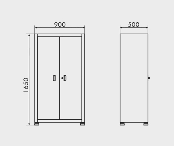 Arm rio de a o com 2 portas e 4 prateleiras arm 017 - Medidas de un armario ...