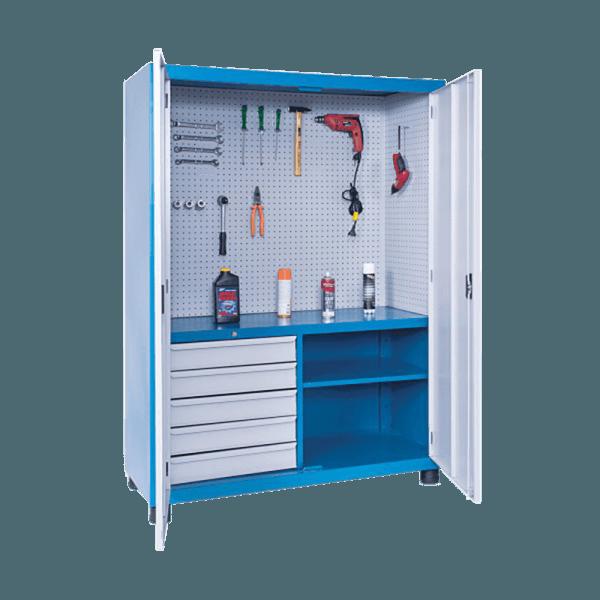 armário de aço com prateleira fixa 2 portas ARM 004