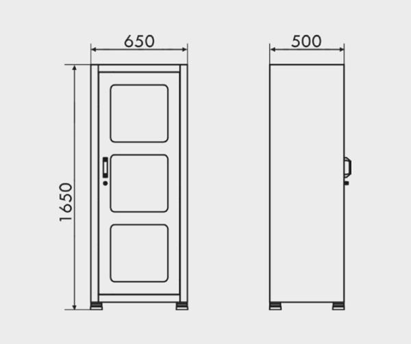 armário de aço com prateleira medidas ARM 015