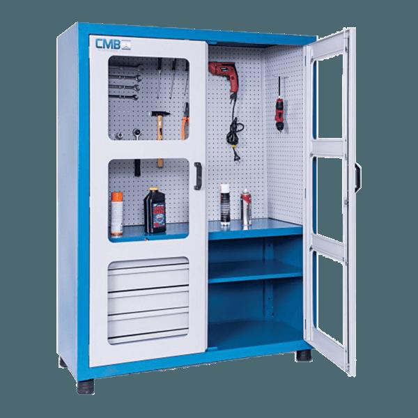 armário de ferramentas com 2 prateleiras 5 gavetas ARM 009