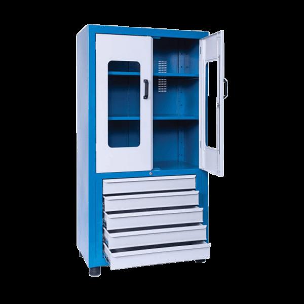 armário de ferramentas com rodas e 5 gavetas ARM 021