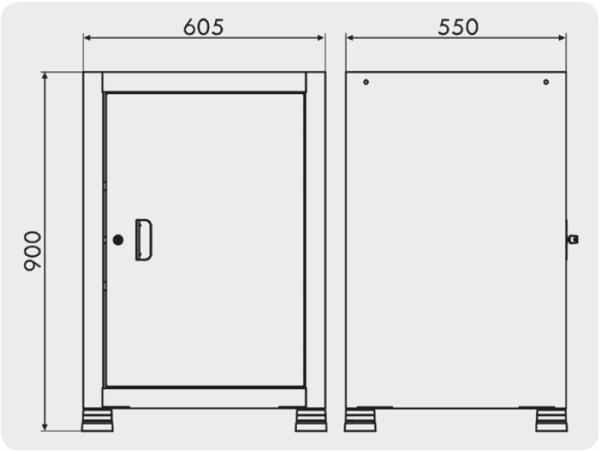 armário para guardar ferramentas com 1 porta medidas GAV 619
