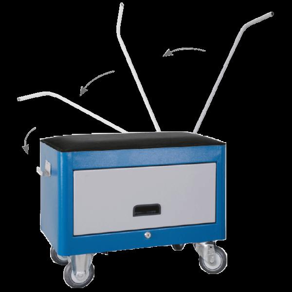 caixa para ferramentas com 1 porta retrátil com rodinhas BAU 605R