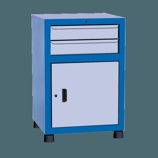 Gaveteiro para ferramentas com 1 porta e 2 gavetas para oficina GAVPM612