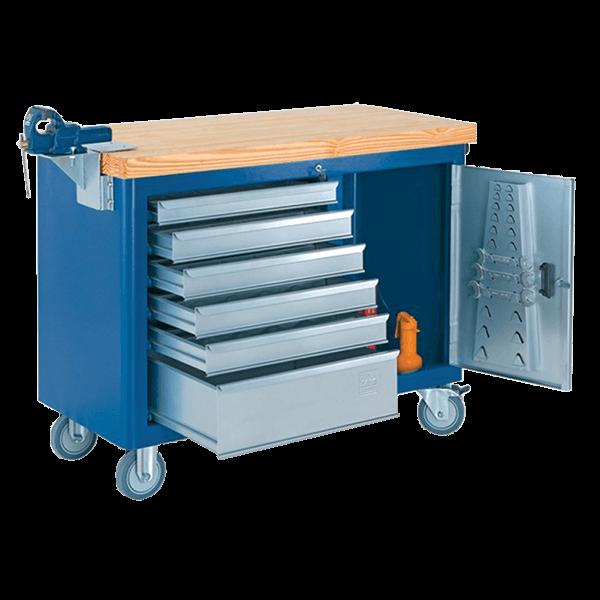 Gaveteiro com rodinhas e tampo de pinus 40mm 500 caixa for Caixa horario oficinas