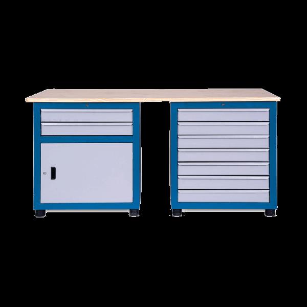 bancada de trabalho modular 2 gaveteiros tampo 1800